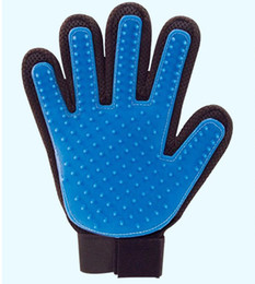 Wholesale Brushes Gloves - New design Pet gloves True Touch Bath gloves Dog Cat Brush Comb dog Grooming gloves