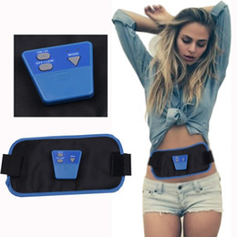 Wholesale Women Belly Slimming Belt - New Waist Slimming Belt Women Belly Electric Back Shoulder Vibration Anti Cellulite Massager Fat Burner Machine