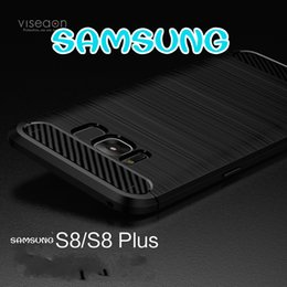 Wholesale Carbon Black Packaging - Packages mailed 2017 samsung S8 following from the new S8 plus case drawing carbon fiber silicone turnkey TPU soft shell accessories