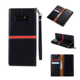 Wholesale galaxy folio case - High Quality PU Leather with Card Slot Folio Flip Case For iPhone X Samsung Galaxy NOTE 8 with Retail bag