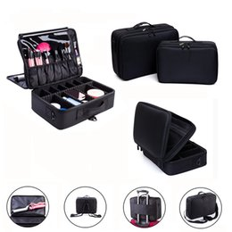 Wholesale Clear Makeup Case Organizer - Wholesale- Makeup Bag Makeup Box Multilayer Cosmetic Bag Waterproof Oxford Professional Cosmetic Case Makeup Organizer Travel Pouch Bags