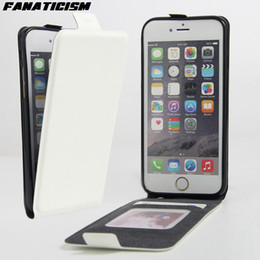 Wholesale Iphone Flip Down - Vertical Flip Luxury PU Leather Case For Apple iPhone 7 iphone 6 6s SE 5S Flip Up Down Cover Coque With Card Holder