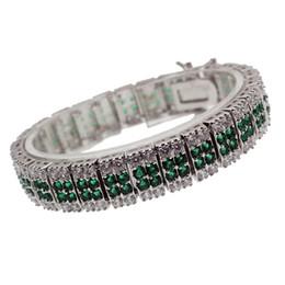 Argentina Hermosa Gemstone Links pulsera 925 plata esterlina Topaz verde Peridot Sparkle regalos de Navidad joyería envío gratis 7 pulgadas cheap topaz green gemstones Suministro