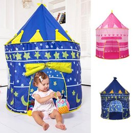 Wholesale Kids Tent Car House - Ultralarge Children Beach Tent Baby Toy Play Game House Kids Princess Prince Castle Indoor Outdoor Toys Tents Christmas Gifts