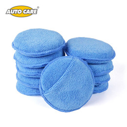 "Wholesale Wax Applicators - Wholesale- Auto Care 10-Pack 5"" Diameter Soft Microfiber Car Wax Applicator Pads Polishing Sponges with pocket for apply and remove wax"