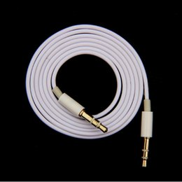 Wholesale Ipad Car Audio - MOONBIFFY 1M 3.5mm Male to Male Stereo Audio Jack AUX Auxiliary Cable for iphone 6 7 Plus for iPad MP3 MUSIC PLAYER IN THE CAR