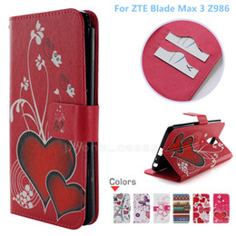 zte max telefon fällen Rabatt Für ZTE Blade Max 3 Z986 PU-Leder Flip-Portemonnaie für ZTE Blade Max 3 Z986