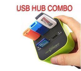 Lector mp online-Hot Sales 3 port usb hub 2.0 HUB con lector de tarjetas micro micro para SD / MMC / M2 / MS / MP Pro Duo 10631