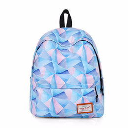 Wholesale Canvas Big Backpack For School - Colorful Geometric Backpack for School Girls 2017 School Bag Female Casual Big Capacity Laptop Women New Design Water Proof Backpack