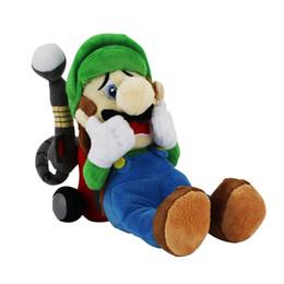 Wholesale Super Mario 23cm - 23CM New Arrival Super Mario Luigi Plush toys horror Luigi Mansion 2 Luigi Plush Dolls For Christmas Gift 1pcs