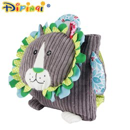 Wholesale fabric baby books - New 30CM Children AIPINQI School Bags Lovely Cartoon Animals Backpacks Baby Plush Shoulder Bag Schoolbag Toddler Snacks Book Bags Kids Gift