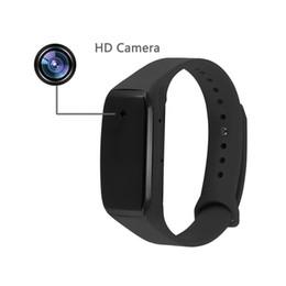 Wholesale Mini Bracelets - HD 1080P Sports Wearable Bracelet Portable Spy Camera Wristband Hidden Camera Executive Multifunction DVR Perfect Gift Mini DV