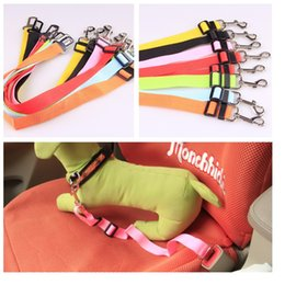 Wholesale Dog Lead Clips - Adjustable Nylon Pet Dog Safety Car Seat Belt Harness Lead Clip dog Vehicle Travel leads rope wa3176