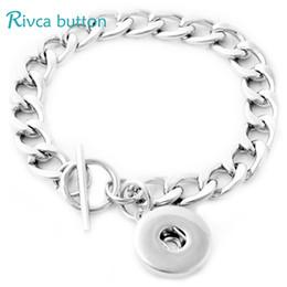 Wholesale Metal Prong - P00683 Hot Sale Newest Fit 18mm Button Metal Chain Snap Button Chain Charm Bracelet Jewelry