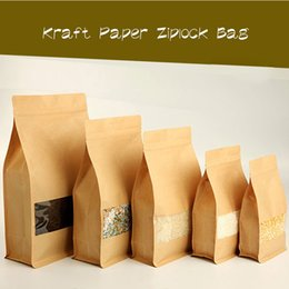 Wholesale Compound Bag - High-grade Kraft Paper Ziplock Bag Compound Food Packaging Bags Stand Up Pouch With Clear Window for Bread cookie