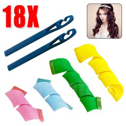 Wholesale Curl Fashion Style - Amazing Magic Leverag Hair Curlers Curl formers Hair Rollers Styling Fashion and easy Curling Tools with opp bag DHL Free Shipping Towoto