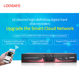 Wholesale 16ch Dvr Cctv - LOOSAFE LS-5016NVR 16CH Security CCTV Video Recorder NVR H.264 P2P HDMI Phone Control HD 1080P DVR Surveillance System