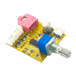 Wholesale 5v Power Amplifier - PAM8403 Mini 5V Digital Amplifier Board Audio with Switch Potentiometer 3.5MM Input Stereo Output USB powered