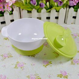 Wholesale Tableware Educational - Newborn Toddler Educational Design Tableware Skid Children Special Suction Wall Bowl Binaural Bowl Cover & Spoon Bowl Set T0003
