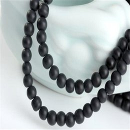 Wholesale Matte Black Onyx Beads Wholesale - Round Black Stone Beads DHL Dull Matte Onyx Agate 10mm Loose Beads for Jewelry Making DIY Designer for Women Men Xmas Gift Decoration