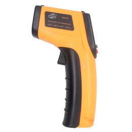 Wholesale Thermometer Temperature Display - LCD Digital Display GM320 Infrared Thermometer Laser Temperature Tester Non-contact   Hand Tools with retail packaging