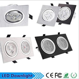 Wholesale Bathroom Square Ceiling Light - Super bright crystal led to the ceiling panel square 6W 10W 12W 20W LED lights adjustable ceiling light downlight 110 V AC-220 volts