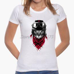Wholesale Women Latest Shirts - Wholesale-2016 Latest Fashion Women Cute Cat Pinted T shirt Cool Cat Design Tops Novelty Lady Short Sleeve Tees