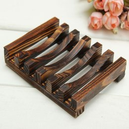 Wholesale Wooden Cup Rack - Beautiful Design Trapezoid 10.8x8x2.5cm Wooden Handmade Bathroom Wood Soap Dish Box Container Tub Storage Cup Rack Durable