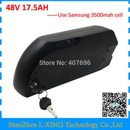Wholesale 48v Battery Li Ion - Free custom fee Electric Bike Battery 48v 17.5ah li ion battery with samsung 18650 cells for Bafang 48v 750w 1000w ebike motor