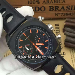 Wholesale Cheap Mens Watches Brands - Super Clone Brand Luxury Cheap New Monza CR2080.FC6375 Black Dial Quartz Chronograph Mens Watch PVD Black Leather Strap High Quality Watches