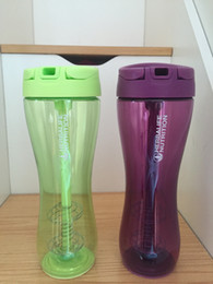 Wholesale Protein Nutrition - Portable Herbalife Nutrition Protein Powder Shaker Bottle Hebalife Water Bottle With Straw lid and Steel Whisk Ball