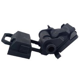 Wholesale Helmet Nvg Mount - Tactical Helmet Parts L4G24 L4G19 NVG Mount 100% Plastic For Night Vision Cosplay PVS15 PVS18 GPNVG18 No Function Black DE
