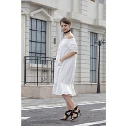 Wholesale White Ruffle Cardigan - Summer Dress Dresses A Shoulder Strapless Cardigan Skirt Sexy Slim Skirt Ruffle Sleeve Pure Strapless Cotton