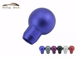 Wholesale Ball Gear Knob - HB Good quality Cool Blue Aluminum Car Gear MOMO Shift Knob Ball Type Shifter Lever Universal Fit Manual Transmission