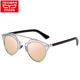 Wholesale Vision Designer - Wholesale-TRIUMPH VISION Female Polarized Cat Eye Sunglasses Women 2016 Luxury Brand Oculos Sun Glasses For Women Designer Shades Lunette