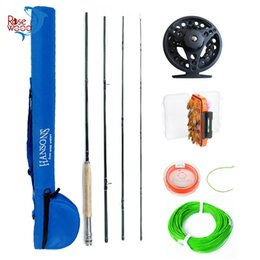 Wholesale Fish Trout - Wholesale- 2.4m 2.7m Fly Fishing Rod Combo Full Metal Fly Reel 3 4 32pcs Trout Salmon Fishing Flies Set Fish Line With Fly Fishing Bag Case