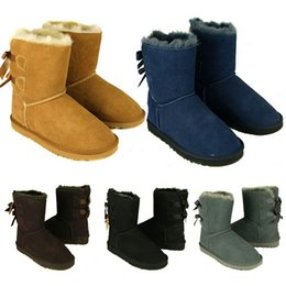 Wholesale Boots Sale Australia - Hot Sale New WGG Women's Australia Classic tall Boots Women girl boots Boot Snow Winter boots fuchsia black blue red leather shoes