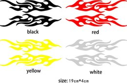 Wholesale Red Murals - Universal Car Sticker Styling Engine Hood Motorcycle Decal Decor Mural Vinyl Covers Accessories Auto Flame Fire