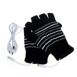 Wholesale Usb Warmer Gloves - Wholesale- 5V USB Powered Heating Heated Winter Hand Warmer Gloves Washable Outdoor Wrist Mittens Heated Gloves mitaine femme 2016