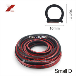 Wholesale parts car engines - Small D-shape 4 Meter 3m Adhesive Car Rubber Seal Sound Insulation Car Door Sealing Strip Weather Strip For Engine Hood Car Boot