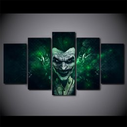 Wholesale Arkham Origins - 5 Pcs Set Framed HD Printed batman arkham origins the Comics Painting on canvas room decoration print poster picture Free shipping ny-1507
