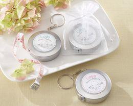 (30 Pcs / lot) Pleine Lune Bébé Ruban À Mesurer Ruban Keychain Gift pour Baby Shower favors et cadeau de fête d'anniversaire bébé cadeau livraison gratuite ? partir de fabricateur