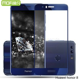 Wholesale Iphone Protect Film - Wholesale- honor 8 glass tempered full cover huawei honor 8 screen protector film original 5.2 inch huwei hawei hauwei honor8 protect 64gb
