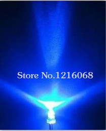 led super bright 3mm with best reviews - Wholesale- Free shipping 1000pcs lot 3MM white transmit blue super bright LED light tube light-emitting diodes