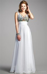 Wholesale Black Sleek Dress - Refined Evening Gowns features V-Neckline with Deep V-Back Multicolored Beads accent Bodice Ruched Waist Sleek Chiffon Prom Dresses 2016