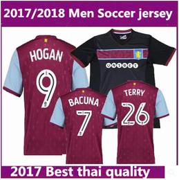 Wholesale Aston Red - best Thai quality 2017 2018 Aston Villa soccer jersey 17 18 Aston Villa soccer jersey TERRY home football jerseys shirt