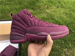 Wholesale Black Tennis Shoes Mens 12 - 2017 The Hottest Public School PSNY x Air Retro 12 Bordeaux And Burgundy PSNY Purple Retros 12s Wine red Mens Basketball Shoes US 8-13