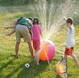 Wholesale Sprinkler Toys - Inflatable Beach Water Ball Outdoor Sprinkler Summer Inflatable Water Spray Balloon Outdoors Play In The Water Beach Ball children's toys
