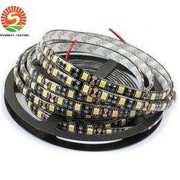 Wholesale Led Strip Roll Black Pcb - 100m Led Strip Black PCB 5050 RGB Light Strips 12V Waterproof Non-Waterproof 5M 300 LEDs 5m roll DHL Free Shipping