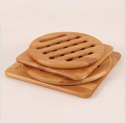 wood kitchen table Promo Codes - Thickened Bamboo Tableware Mats Non-slip Insulation Pads Placement Bamboo Wood Table Mats Tableware Coaster Kitchen Accessories